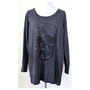 TORRID 0 Skull Sweater Top L 0X